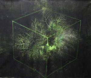 untitled ,mix media on canvas, 200 x 200 cm