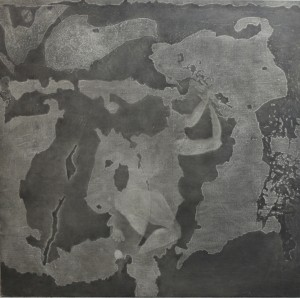 Androgenic constellation ,charcoal and oil on canvas ,200x200cm