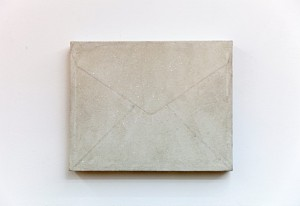 Habima as an envelope ,mix media on canvas , 40x50 cm