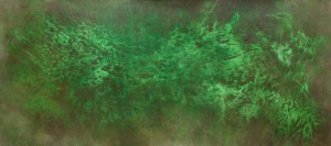 untitled, pigments on canvas, 400 x 200 cm