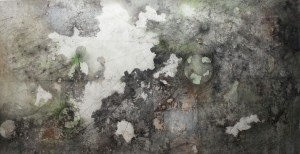 Slow release  , mix media on canvas 210X410 cm