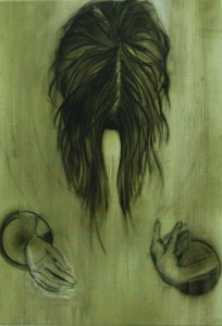 Organs,oil & charcoal on canvas, 53X78 cm