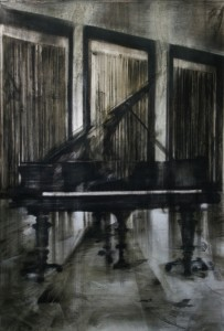 Ghost ,oil & charcoal on canvas, 130X200 cm
