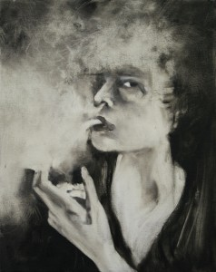 Smoked , oil on canvas, 40X50 cm
