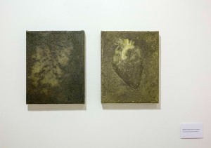 blindness and love,diptich,mix media on canvas , 20-30x2 cm