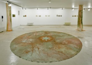 navel of the world-point -zero , mix media on canvas