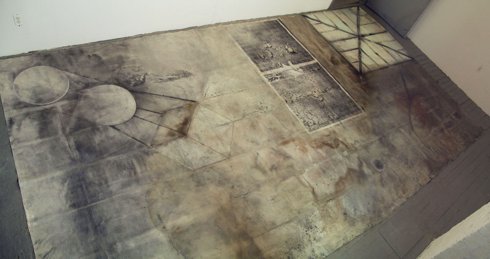 Another Solar System(rooftop) , mix media on canvas . 300x600cm