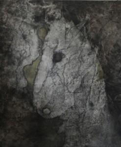Compassion, graphite and oil on canvas,50x70 cm