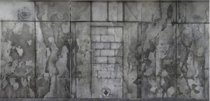 The Prophecy, (triptych), , Charcoal, graphite & oil on canvas, 190x290 cm x 3