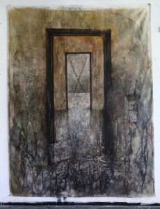 Transition. charcoal and oil on canvas, 200x270cm