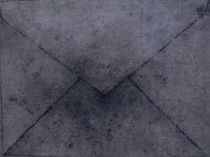 (Envelope), charcoal, graphite and oil on canvas, 80 x 65 cm
