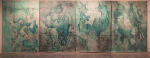 THE MAP, MIX MEDIA ON CANVAS , 210 X 290 CM(X4)