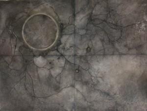 untitled , mix media on canvas  , 200X300 cm