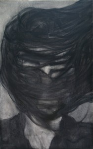 Wolfa, oil & charcoal on canvas, 25X40cm