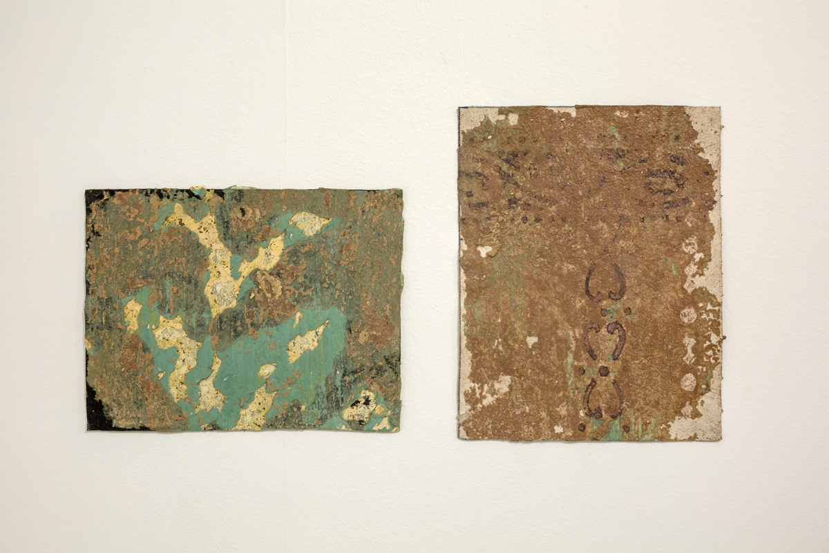 the past , old walls on canvas , veriable dimension  (3)