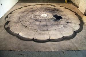 Tha Paracutist , mix media on canvas, 280x280cm (2) (1)
