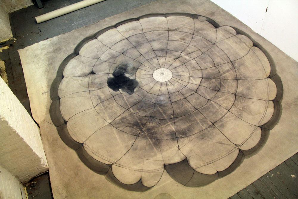 Tha Paracutist , mix media on canvas, 280x280cm