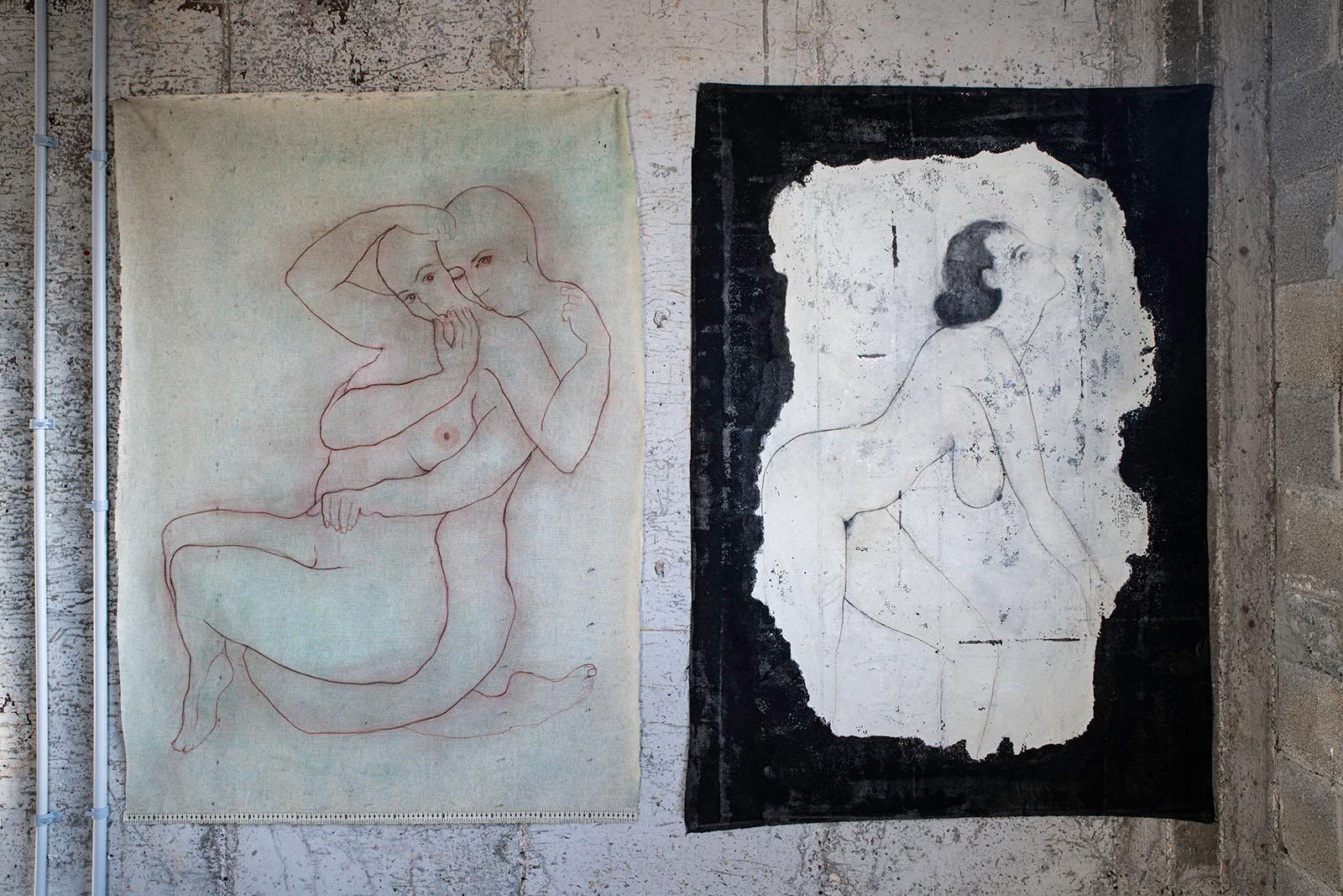 FIGURATIVELY, mix media on canvas, 120x90 cm x 2
